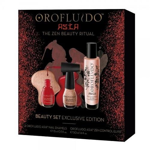 Orofluido Подарочный набор Эликсир 50 мл, 2 лака для ногтей 1 шт (Orofluido, Asia) orofluido эликсир для волос orofluido elixir 100 мл