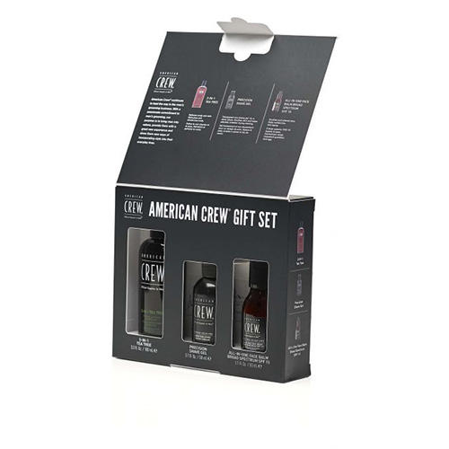 Набор CREW (3 в 1 TEA TREE 100 мл, Pr. Shave Gel SSC 50 All in One Face Balm мл) (American Crew, Для тела и волос)