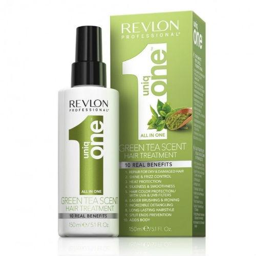 Купить Revlon Professional Ревлон Спрей-маска для ухода за волосами с ароматом зеленого чая 150 мл (Revlon Professional, Uniqone), США
