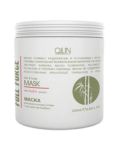 Full Force Маска для волос и кожи головы с экстрактом бамбука 250 мл (Ollin Professional, Full Force)