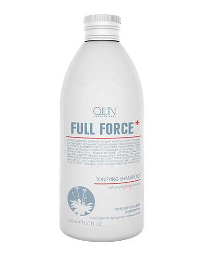 Full Force Тонизирующий шампунь с экстрактом пурпурного женьшеня 300 мл (Ollin Professional, Full Force)