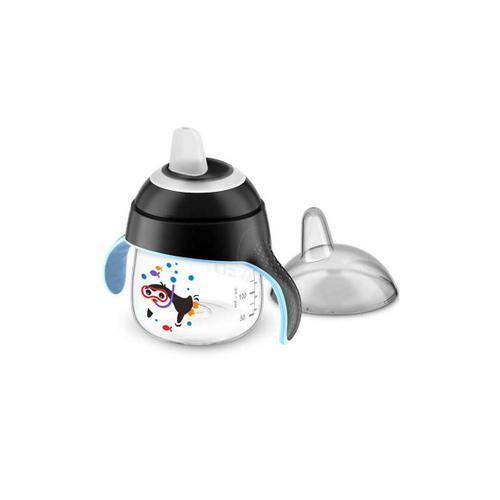 Чашкапоильник (200мл, 6мес) черная для детей до 3х лет SCF75103 (Avent, Детская посуда) avent termabag термосумка черная