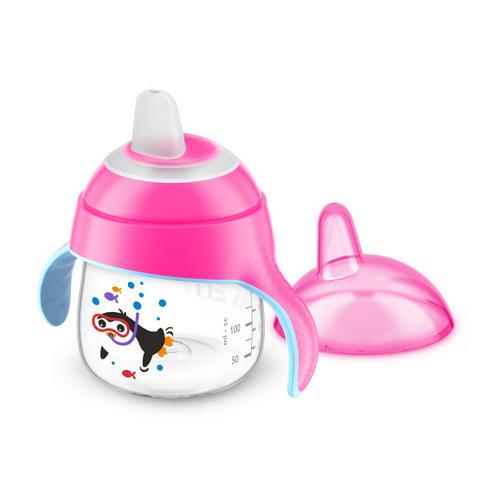Чашкапоильник (200мл, 6мес) розовая для детей до 3х лет SCF75107 (Avent, Детская посуда)