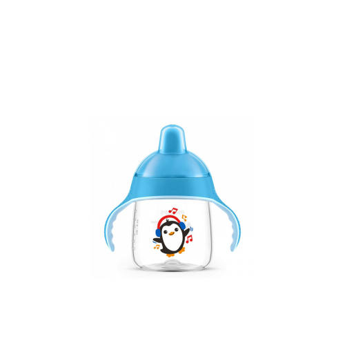 Чашкапоильник, (260 мл, 12 мес) голубая для детей до 3х лет SCF75305 (Avent, Детская посуда) чашкапоильник с трубочкой 300 мл 12 мес scf79802 avent детская посуда