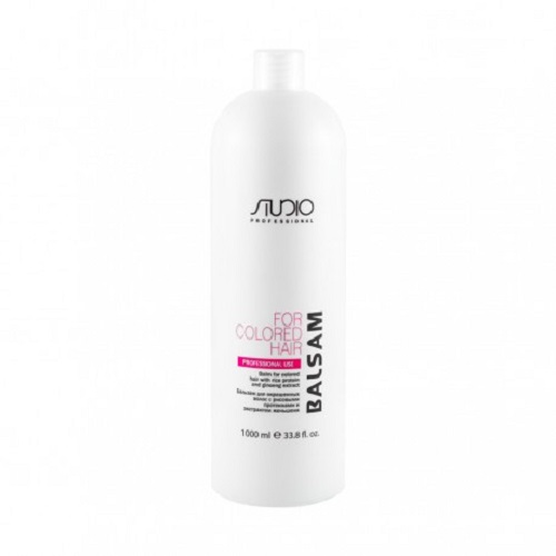 Купить Kapous Professional Бальзам для окрашенных волос с рисовыми протеинами и экстрактом женьшеня 1000 мл (Kapous Professional, Studio), Италия