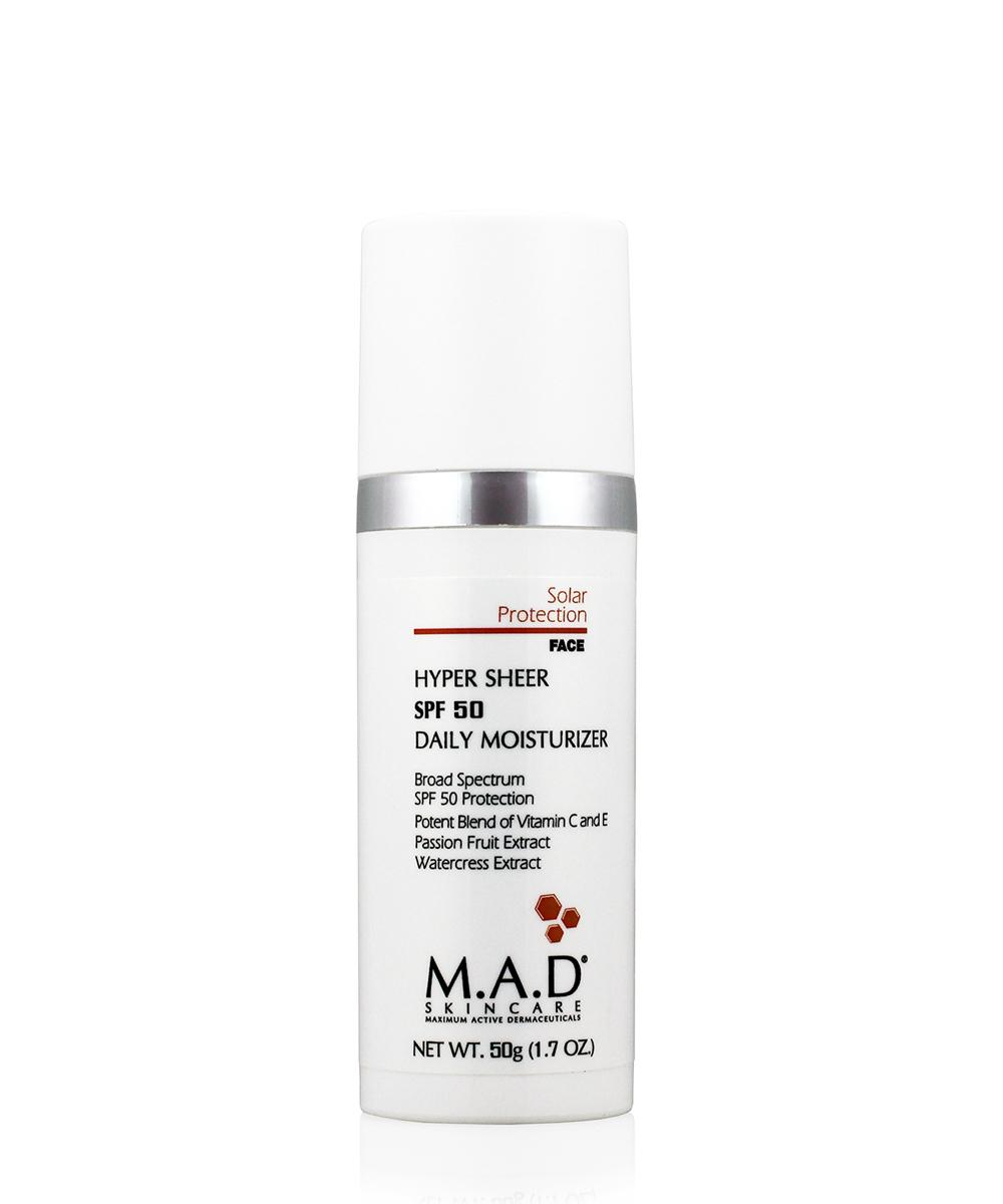 Купить M.A.D. Увлажняющий крем-основа под макияж с защитой spf 50, 50 гр (M.A.D., Sun Protection)