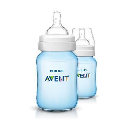 Avent Бутылочка для кормления голубая, 2шт х 260мл (Classic+)