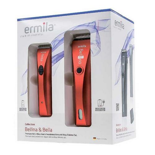 Ermila Набор красный : машинка для стрижки + триммер 1 шт (Ermila, Машинки)