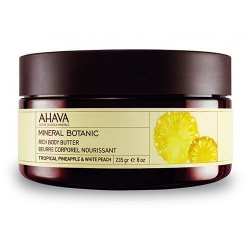 Насыщенное масло для тела тропический ананас и белый персик 235 гр (Ahava, Mineral botanic) ahava mineral botanic velvet body lotion lotus