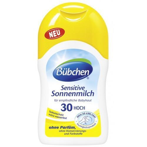 Солнцезащитное молочко для младенцев с чувствительной кожей, фактор 30, 150 мл (Bubchen, Солнцезащитная серия) bubchen молочко 200мл
