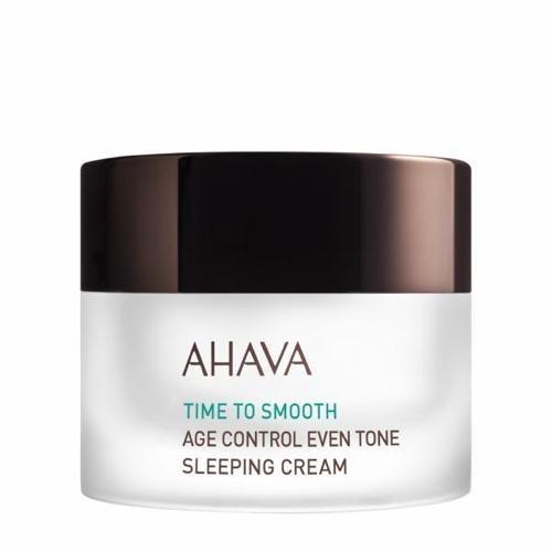 Антивозрастной ночной крем для выравнивания цвета кожи 50 мл (Ahava, Time to smooth) ночной крем для лица ahava time to hydrate 50 мл восстанавливающий для нормальной и сухой кожи