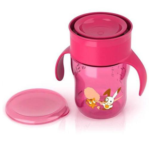 Чашкапоильник 260мл, 9 мес (голубая, розовая) (Avent, Детская посуда) авент кружка поильник взрослая чашка голубая розовая от 12 мес 260мл арт 83442 scf782