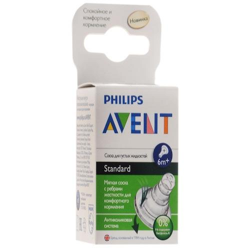 Avent Соска для густых жидкостей Standard 6+, 2 шт. (Стандарт)