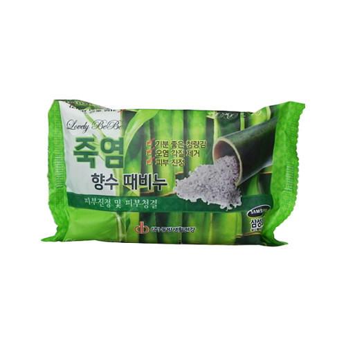 Мыло с отшелушивающим эффектом парфюмированное с бамбуковой солью 120 г (Juno, Для лица)