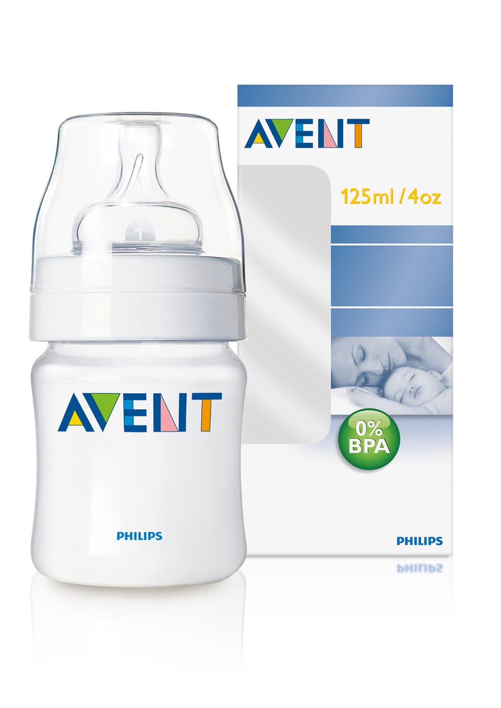 Бутылочка Естественное кормление для младенцев 125 мл Avent Philips (Avent, Стандарт) avent scf560 27 бутылочка из полипропилена 125 мл 2шт philips avent серия classic