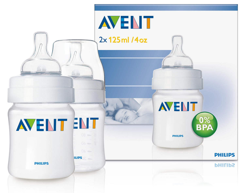 Бутылочка Естественное кормление для младенцев 2х125 мл Avent Philips (Avent, Стандарт) avent scf560 27 бутылочка из полипропилена 125 мл 2шт philips avent серия classic
