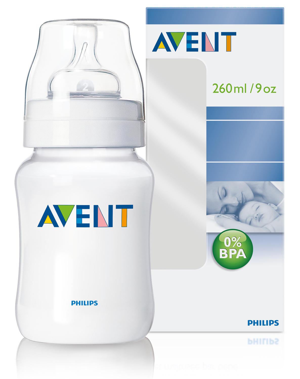 Бутылочка Естественное кормление для младенцев 260 мл Avent Philips (Avent, Стандарт) avent scf560 27 бутылочка из полипропилена 125 мл 2шт philips avent серия classic