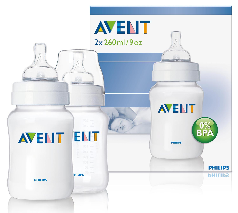 Бутылочка Естественное кормление для младенцев 2х 260 мл Avent Philips (Avent, Стандарт) avent бутылочка для кормления 125 мл