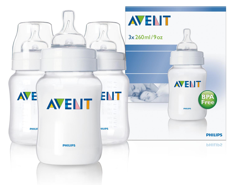 Бутылочка Естественное кормление для младенцев 3х 260 мл Avent Philips (Avent, Стандарт) бутылочка естественное кормление для младенцев 125 мл avent philips avent стандарт