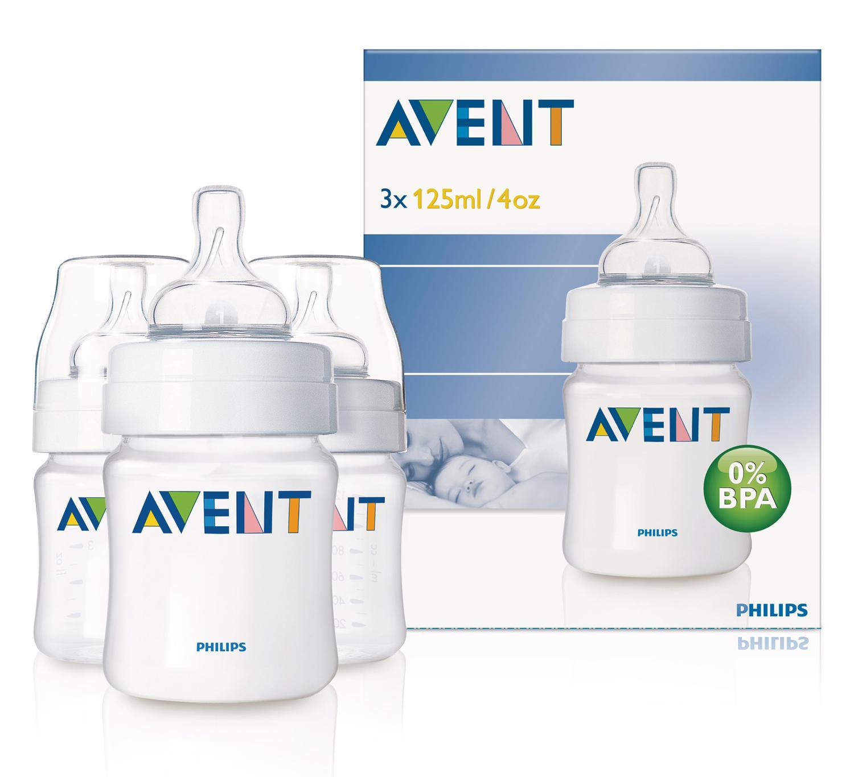 Бутылочка Естественное кормление для младенцев 3х125 мл Avent Philips (Avent, Стандарт) avent scf560 27 бутылочка из полипропилена 125 мл 2шт philips avent серия classic