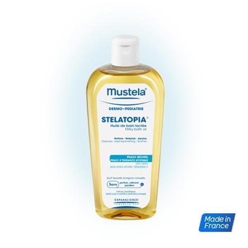 Масло для ванны для новорожденных, младенцев и детей 200 мл (Уход за сухой кожей Stelatopia)