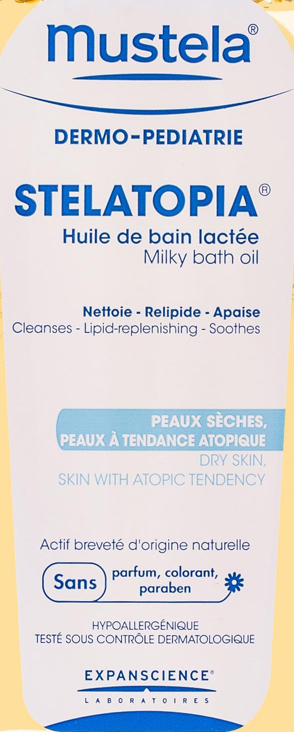 Масло для ванны для новорожденных, младенцев и детей 200 мл (Stelatopia) (Mustela)