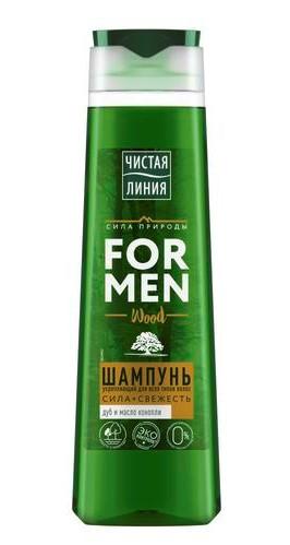 Чистая линия Шампунь Укрепляющий для мужчин, 400 мл (Чистая линия, Для мужчин) ducray неоптид лосьон от выпадения волос для мужчин 100 мл