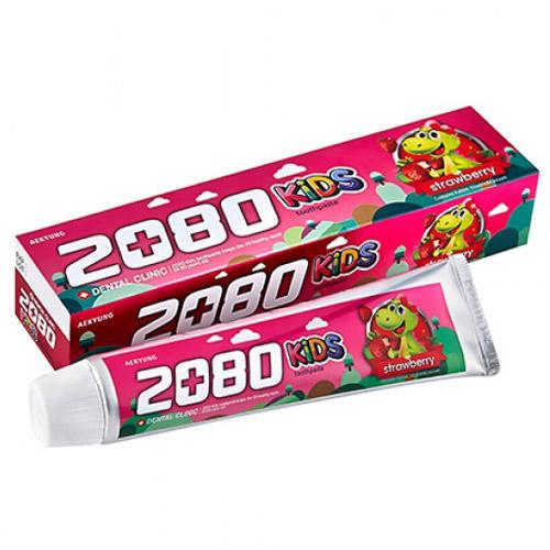DC 2080 Toothpaste Kids Детская зубная паста, клубника 80 г (Kerasys, Dental Clinic) гигиена полости рта babyline детская зубная паста со вкусом тутти фрутти 75 мл от 2 6 лет