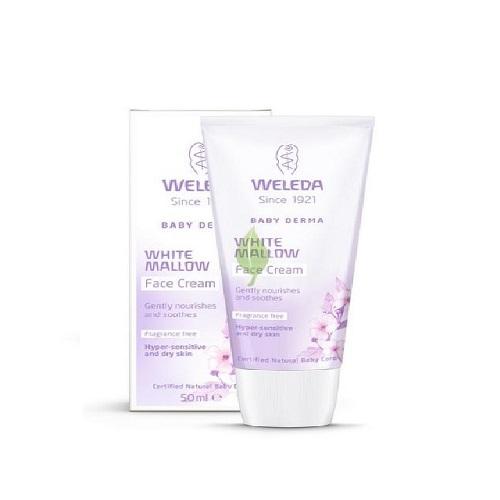Weleda Крем для гиперчувствительной кожи лица с алтеем 50 мл (Weleda, Детская серия с Алтеем) weleda детское молочко для гиперчувствительной кожи тела с алтеем 200 мл