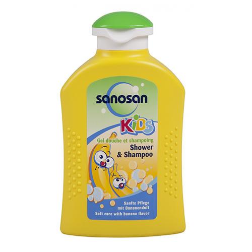 Kids Гель для душа и шампунь с ароматом банана 200 мл (Sanosan, Kids) цены онлайн