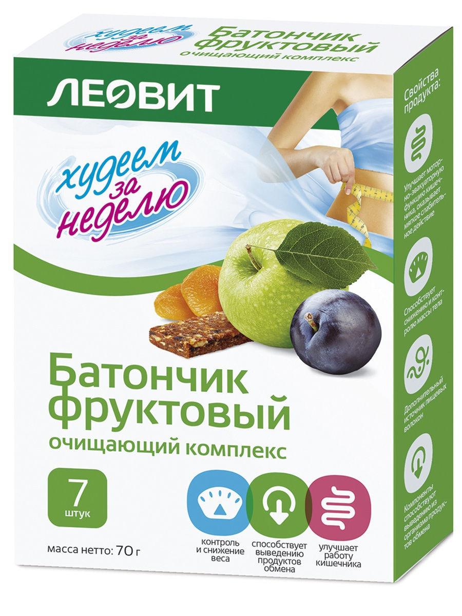 Леовит Батончик фруктовый для похудения Очищающий комплекс 70г (Леовит, Десерты)
