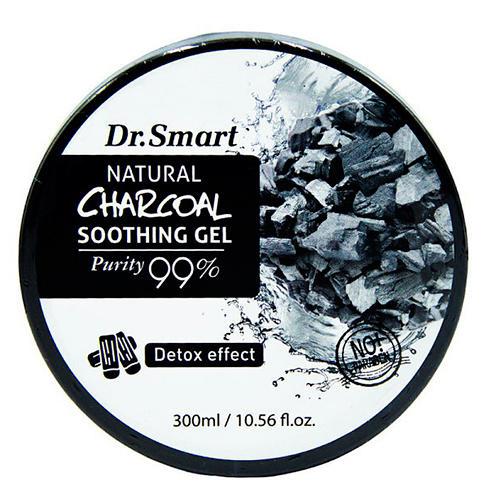 Купить Dr. Smart Гель для лица и тела с древесным углем Детокс Natural Charcoal Soothing Gel 99%, 300 мл (Dr. Smart)