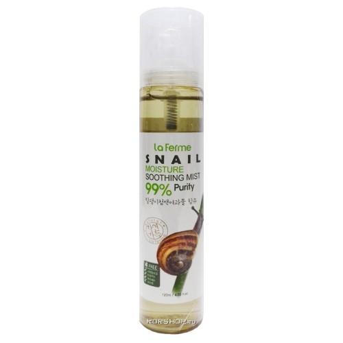 Успокаивающий спрей для лица с муцином улитки 120 мл (Farmstay, Для лица) антивозрастной уход farmstay honey