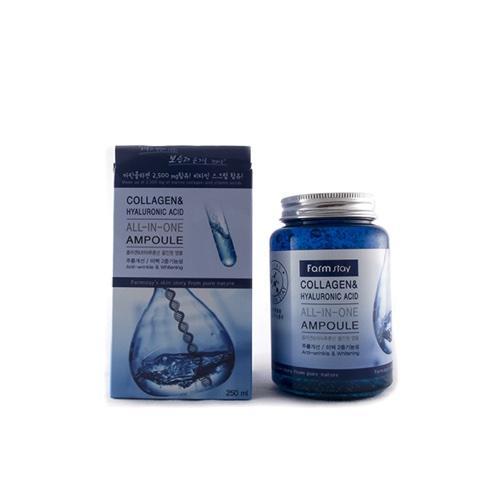 Многофункциональная ампульная сыворотка с гиалуроновой кислотой и коллагеном, 250 мл (Farmstay, Farmstay) антивозрастной уход farmstay honey