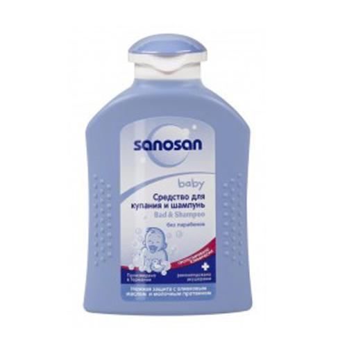 Sanosan Средство для купания и шампунь 200 мл (Baby очищение)