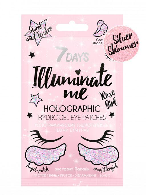 Купить 7 Days Голографические гидрогелевые патчи для глаз Rose Girl 2, 36 г (7 Days, ILLUMINATE ME)