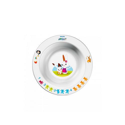 Тарелка (6мес) маленькая 1 шт (Avent, Детская посуда) набор для кормления nuby тарелочка двухсекционная с ложкой 1 шт от 6 месяцев 00 0015150