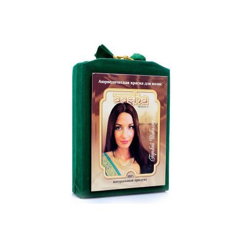 Аюрведическая краска для волос Горький шоколад, 100 мл (Aasha, Краски для волос) цена