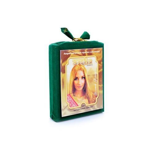 Aasha Аюрведическая краска для волос Золотой Блонд, 100 мл (Aasha, Краски для волос) aasha herbals аюрведическая краска для волос золотой блонд 100 г