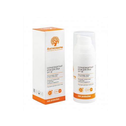 Ангиофарм Солнцезащитный крем для лица 30 SPF 50 мл (Ангиофарм, Защита от солнца)