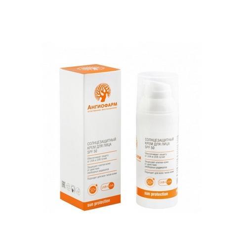 Ангиофарм Солнцезащитный крем для лица 50 SPF 50 мл (Ангиофарм, Защита от солнца)