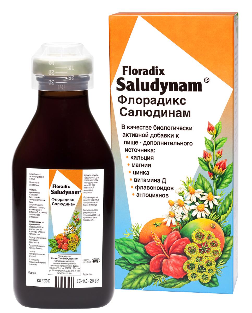 Salus-haus Флорадикс салюдинам 250 мл (в стеклянном флаконе, упакованном в картонную пачку) (Salus-haus, БАДы)