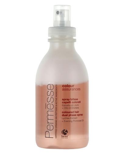 Двухфазный спрей для окрашенных волос с экстрактом Личи и маслом Энотеры 250 мл (Barex, Permesse) barex permesse сoloured hair shampoo шампунь для окрашенных волос с экстрактом личи и красного винограда 1000 мл