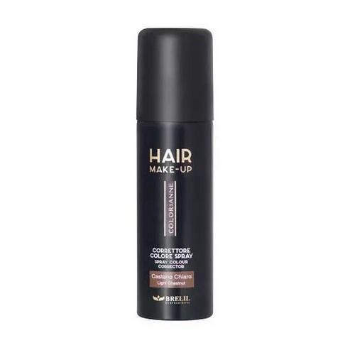 Brelil Professional Спрей-макияж для волос, светлый каштан, 75 мл (Brelil Professional, Hair make-up)