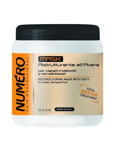 Купить Brelil Professional Восстанавливающая маска для волос с эктрактом овса, 1000 мл (Brelil Professional, Numero), Италия
