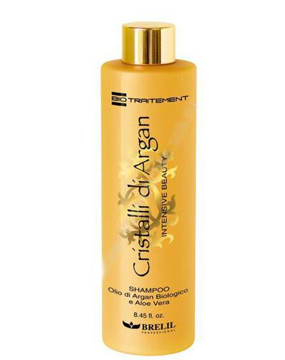 Купить Brelil Professional Шампунь для волос с маслом аргании и молочком алоэ 250 мл (Brelil Professional, Argan Oil Crystals), Италия