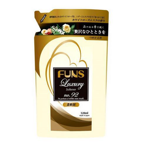 Купить Funs Кондиционер для белья концентрированный с ароматом белой мускусной розы запасной блок 520 мл (Funs, Для стирки), Япония