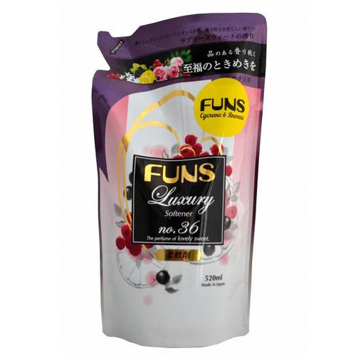 Funs Кондиционер для белья концентрированный с ароматом грейпфрута и черной смородины запасной блок 520 м (Funs, Для стирки)