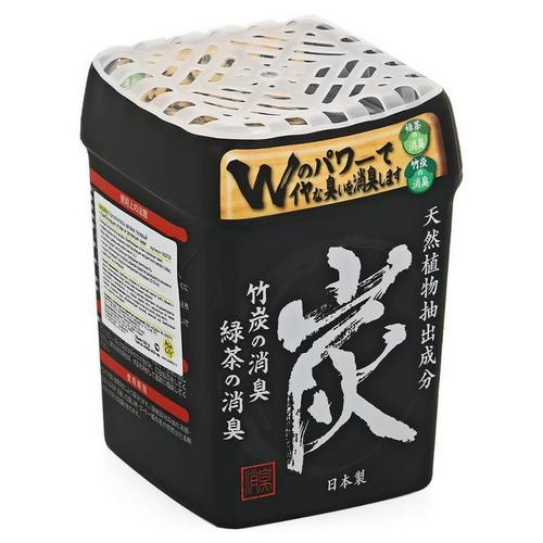 Nagara Поглотитель запаха гелевый с бамбуковым углем и зеленым чаем 320 г (Nagara, Освежители поглотители запаха)