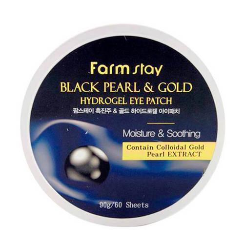 Фото #1: Farmstay Гидрогелевые патчи для век, с золотом и черным жемчугом, 60шт (Farmstay, Для лица)